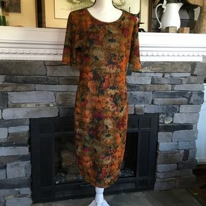 LuLaRoe Julia dress fall NWT bodycon fitted